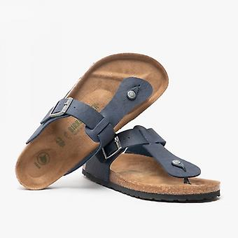 Birkenstock Medina 1018181 (reg) Mens Vegan Toe Post Sandals Navy
