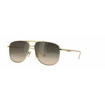 Gucci GG0336S 001 Gold/Brown Gradient Sunglasses