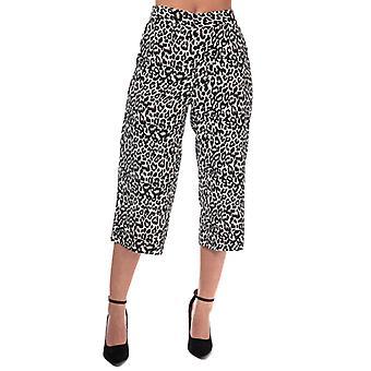 Women's Vero Moda Saga Leopard Print Culotte Broeken in Cream