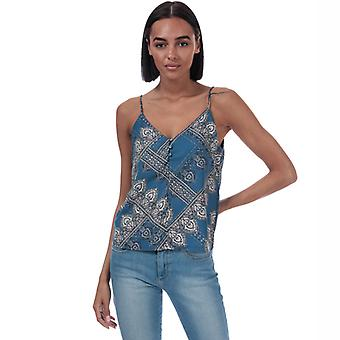 Women's Only Diana Scarf Print Cami Top in Blue