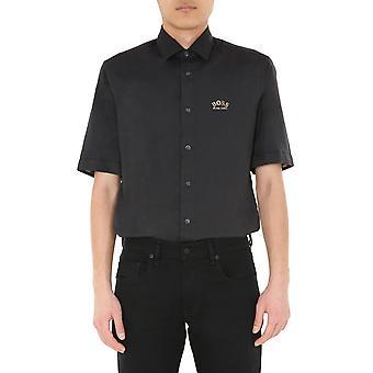 Boss 5042560510223826001 Miesten's Musta Puuvilla paita