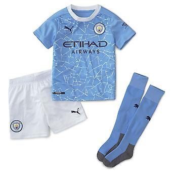 Puma Kids Manchester City Home Mini Kit 2020 2021 Paita Shortsit Sukat