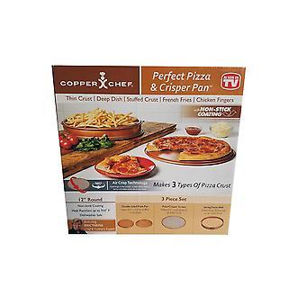 Copper chef - perfect pizza & crisper pan