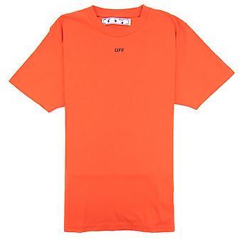 Off-White Off Hvid Stencil S/s T Shirt Orange/sort