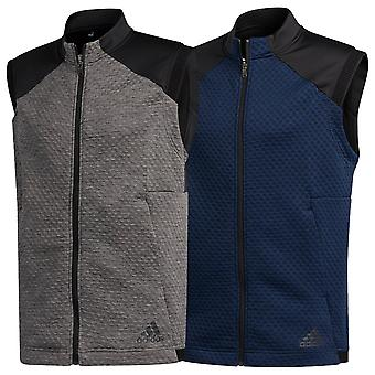 adidas Golf Hombres 2020 COLD. RDY Doubleknit chaleco con cremallera completa sin mangas