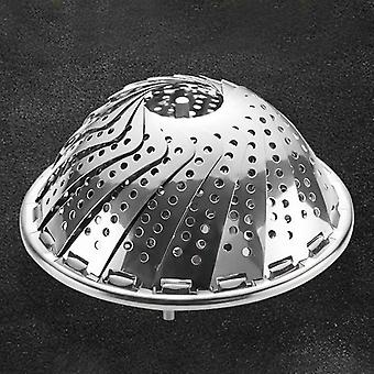 Folding Dish Steam Stainless Steel Food Steamer - Basket Mesh Vegetable Cooker