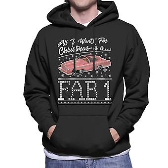 Thunderbirds All I Want For Christmas Is A FAB 1 Men's Hooded Sweatshirt
