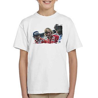 Motorsport Images Niki Lauda James Hunt & Barry Sheene Kid's T-Shirt