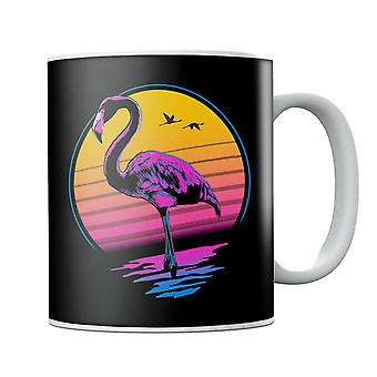 Rad Flamingo 80s Sunset Mug
