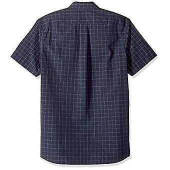 Goodthreads Men's Standard-Fit Kurzarm Plaid Poplin Shirt, -navy windowp...