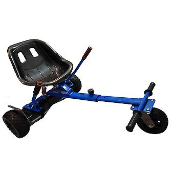 SILI® Off Road Suspension Kart for 2 Wheel Self Balance Scooter, Improved Design with Suspension Under Seat - BLUE