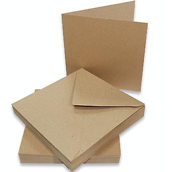 Craft UK Cards & Envelopes 6x6 Inch Kraft