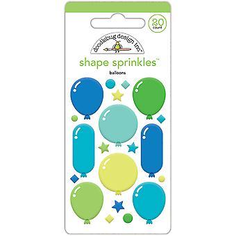 Doodlebug Design Balloons Shape Sprinkles