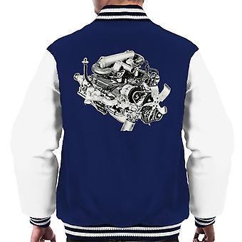 Rover V8 Engine Design British Motor Heritage Men's Varsity Jacket