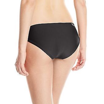 الجسم قفاز المرأة & apos;ق العصائر روبي الأسود بيكيني الصلبة أسفل ملابس السباحة, أسود, متوسطة