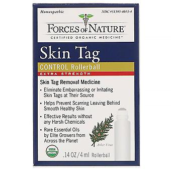 Forces of Nature, Skin Tag Control, Rollerball, Extra Strength, 0.14 oz (4 ml)
