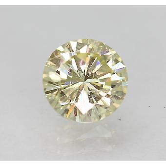 Cert 1.02 قيراط الهوى الأصفر VS2 جولة رائعة المحسنة الماس الطبيعي 6.43mm
