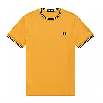 T-Shirt Fred Perry Twin Tipped T-Shirt Gelb