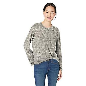 Brand - Daily Ritual Women's Supersoft Terry Long-Sleeve Boxy Pocket T...