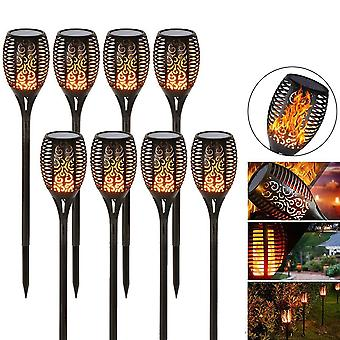 LED Solar Flame Lawn Waterproof Lamp for Garden and Landscape