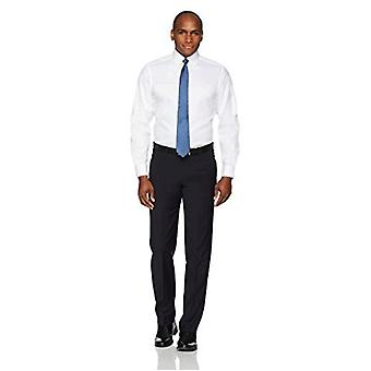 """BUTTONED DOWN Men's Classic Fit Button-Collar Solid Non-Iron Dress Shirt (No Pocket), White, 16"""" Neck 34"""" Sleeve"""