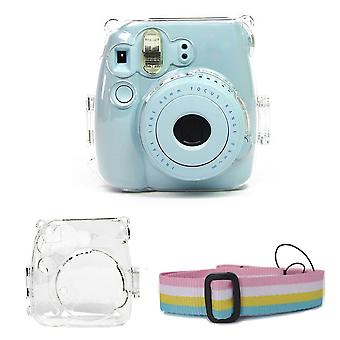 Crystal Transparent Protective Case Cover Pouch Shoulder Strap For Fuji