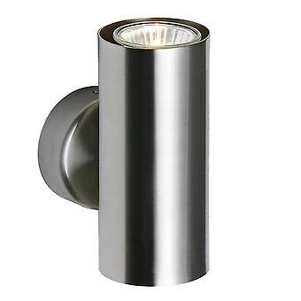 Endon Odi - 2 Light Up & Down Wall Light Satin Nickel, GU10
