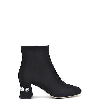Sergio Rossi Ezbc040026 Femmes's Black Suede Ankle Boots