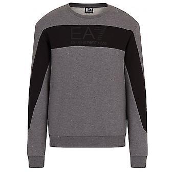 EA7 Men's Grey Crew Neck Sweatshirt