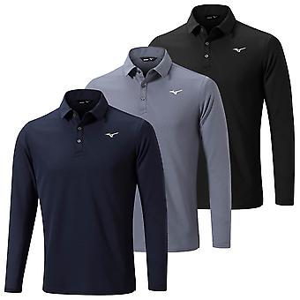 Mizuno Mens 2020 Breath Thermo Long Sleeve Thermal Lightweight Golf Polo Shirt