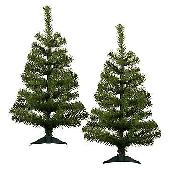 2ft Artificial Christmas Tree with Stand - Green