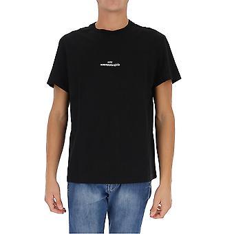 Maison Margiela S30gc0701s22816900 Men's Black Cotton T-shirt