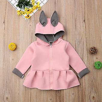 Toddler Baby 3d Ear Bunny Rabbit Coat - Long Sleeve Jacket Outfits Clothes