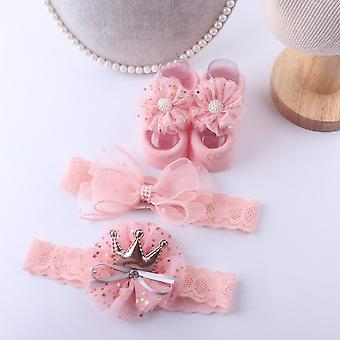 Baby Accessories + Socks, Newborn Baby, Anti-slip Sock Shoes