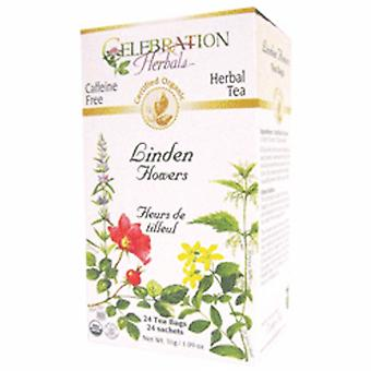 Celebration Herbals Organic Linden Flowers Tea, 24 Bags