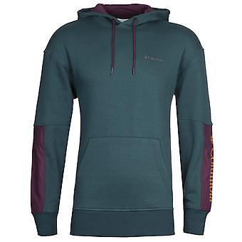 Columbia Fremont Dark Teal and Plum Hooded Sweatshirt