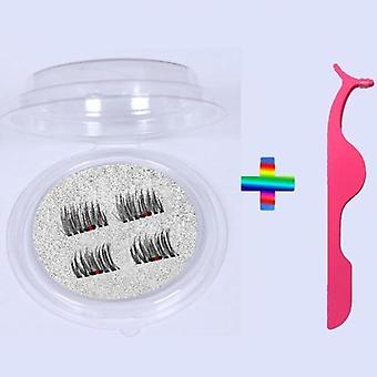 Magnetic Eyelashes With 5 Magnets, 3d False Lashes Natural For Mink Eyelashes