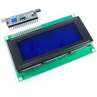 20x4 Blue LCD with I2C Interface Module