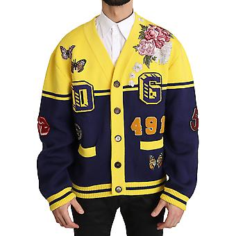 Pull Dolce & Gabbana Varsity Button Wool Cardigan Pull