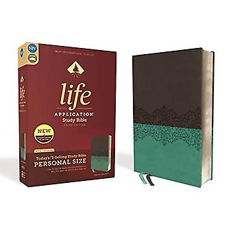 NIV, Life Application Study� Bible, Third Edition, Personal Size, Leathersoft, Gray/Teal, Red Letter Edition