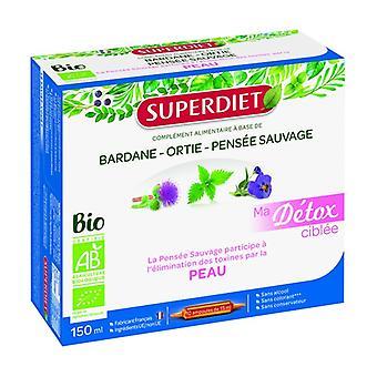 Min riktade detox vilda pansy organiska hud 10 ampuller på 15ml