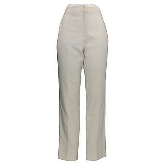 Susan Graver Frauen's Hose schlanke Bein Seite Zip Taschen Beige A383419