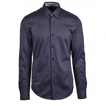 Hugo Boss Ronni_53F langærmet Micro Check Shirt Navy 405 50438906