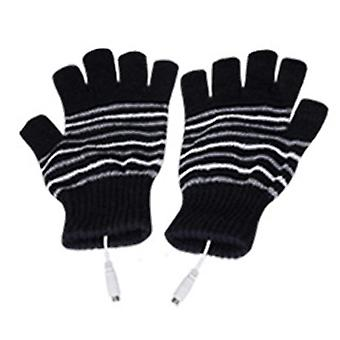 Usb Heated, Thermal, Half-finger Cover, Rechargeable Gloves