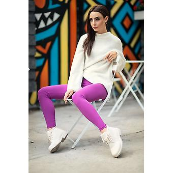Womens Classic Full Ankle Length Soft Cotton Solid Pant
