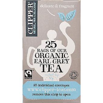 Clipper Organic & Fairtrade Earl Grey Tea Envelope S&T 25's x6