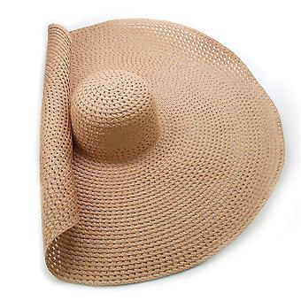 Nők Big Brim Sun Hat, Lélegző Cool Nyári Uv Beach Kalapok