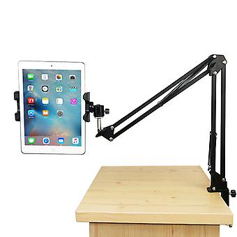 TechFlo Adjustable Arm Tablet Mount Phone Stand for Table Bed Desk iPad iPhone
