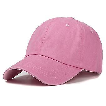 Nové Unisex plain farba umyté bavlnené baseball muži a ženy čiapky