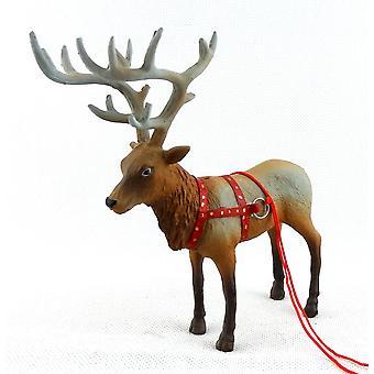 Melodia Jane Dolls Talo Santa Reindeer Rudolph Miniatyyri Joulu Vakaa Eläin